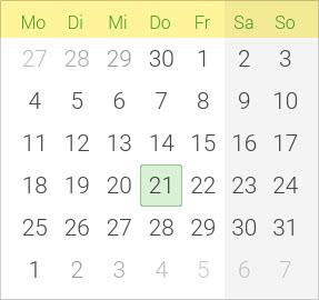 Kalender Himmelfahrt 2020