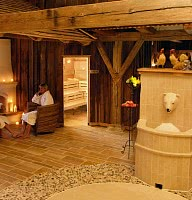 Saunabereich / Eisbrunnen