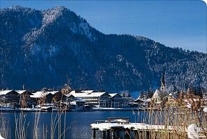 Panoramablickauf den See