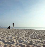 Golfer am Strand