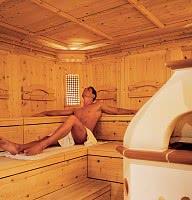 Sauna mit großen Ofen