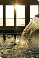Wasserspeier am Pool