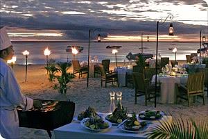 Grillbuffet am Strand