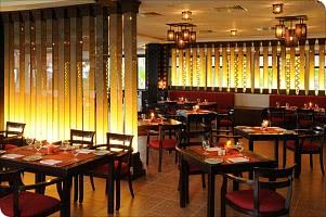 Das gemütlich edle Interieur des Restaurants