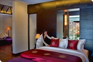 Schlafzimmer der Pool-Villa