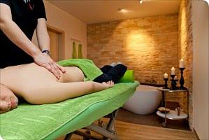 Behandlungsraum für Wellnessmassagen im Hotel in Baabe / Rügen