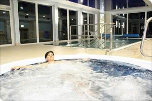 Perfekt relaxen im Whirlpool