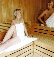 Die Sauna des Hauses
