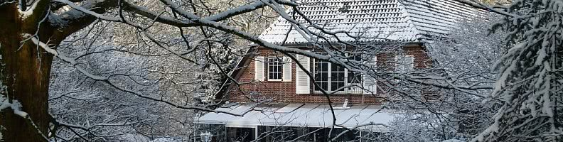 Wintergartenterrasse im Winter