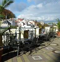 Terrase mit Blick auf Karlsbad