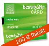 Beauty24-Card - 200 EUR-Rabatt
